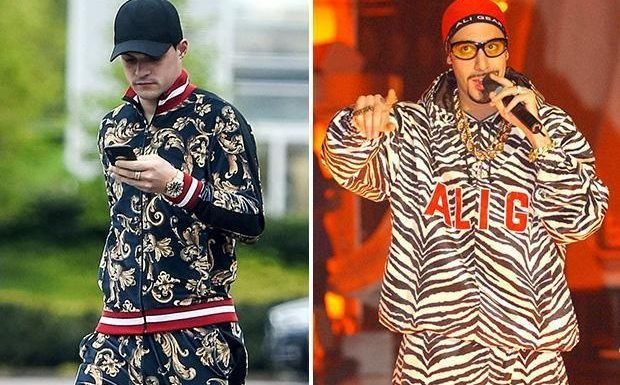 Arsenal flop Granit Xhaka looks like Ali G as he wears striking £123 ASOS tracksuit