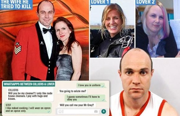 Soldier Emile Cilliers convicted for tampering with wife Victoria's parachute compared himself to kinky Fifty Shades character Christian Grey