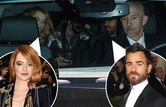 Emma Stone and Justin Theroux leave the Met Gala after party together just days after sushi date