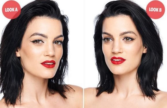 Can you tell which of these looks used 21 make-up products and which used six?