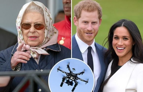 The Queen puts a ban on drones flying over Windsor castle ahead of Meghan and Prince Harry's big day