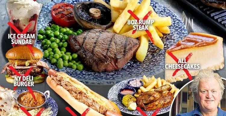 Wetherspoon's customers fume as pub chain axes favourite dishes from its menu