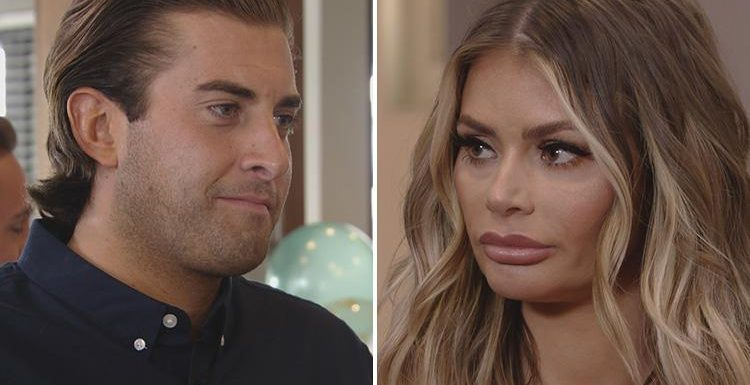 Chloe Sims and James Argent go head to head in fiery Towie exchange at drama-filled Royal Wedding party