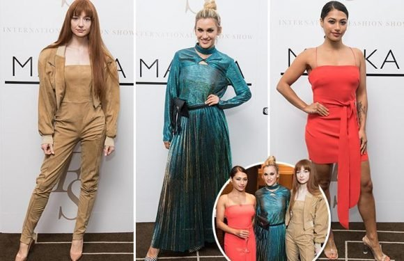 Nicola Roberts wows as she joins Ashley Roberts and Vanessa White at the first International Fashion Show