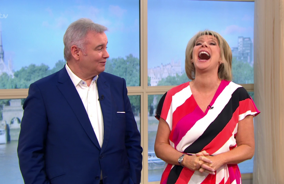 Eamonn Holmes makes dirty joke about Ruth Langsford's pants on This Morning