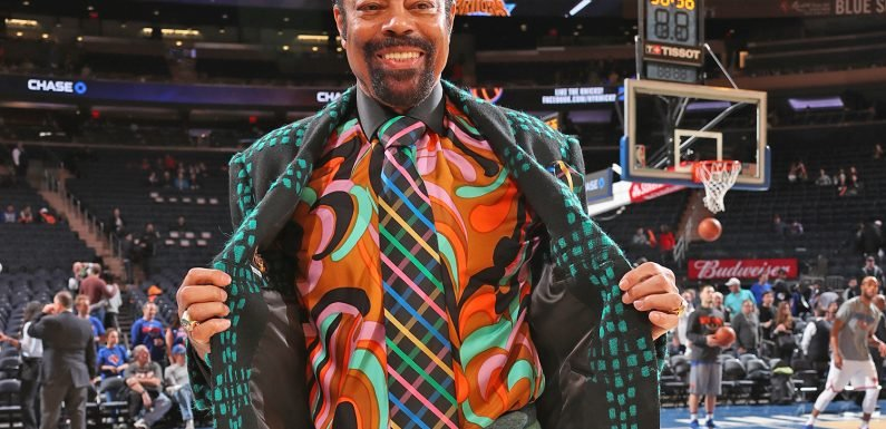 Colorful Walt 'Clyde' Frazier is his own stylist