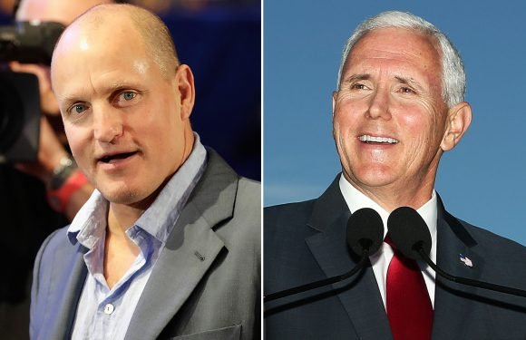 Woody Harrelson was pals with Mike Pence in college