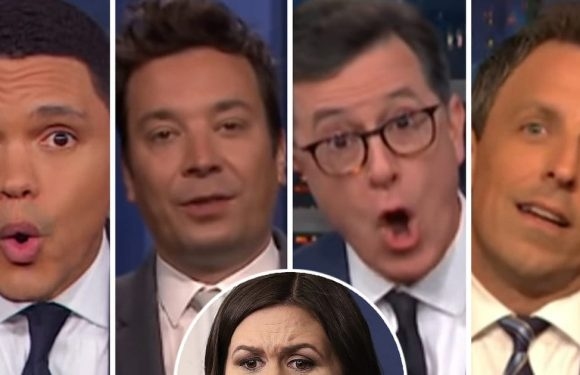 Late-Night Has No Pity for Sarah Huckabee Sanders After Being 'Separated From Her Appetizer' in Restaurant Fiasco