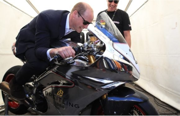 Prince William Puts the Pedal to the Metal at a Motorbike Race, but Kate Isn't Thrilled