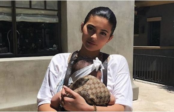 No Biggie! Kylie Jenner Paired a Gucci Baby Carrier With a Simple Summer Look