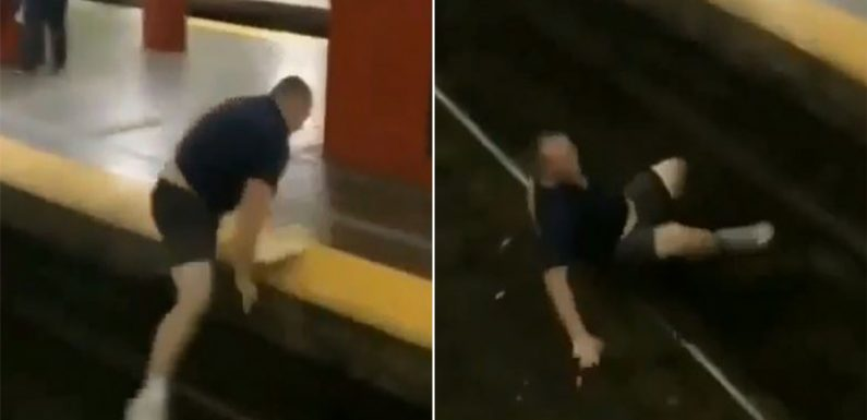Boston bro's leap across subway track doesn't end well