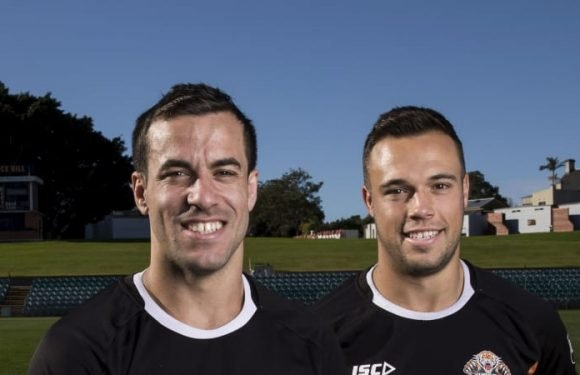 It's a case of mistaken identity for Wests Tigers look-a-likes