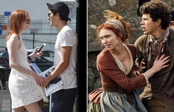 Poldark's Demelza splits from on-screen brother
