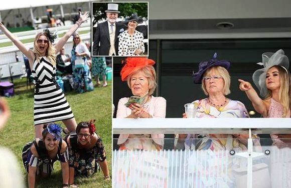 Hats, heels and horses: Racegoers arrive at Epsom Derby