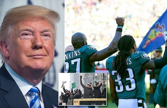 Trump calls off Eagles visit over anthem dispute