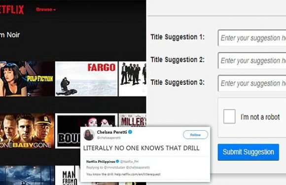 There's a page on Netflix where you can request TV shows and movies