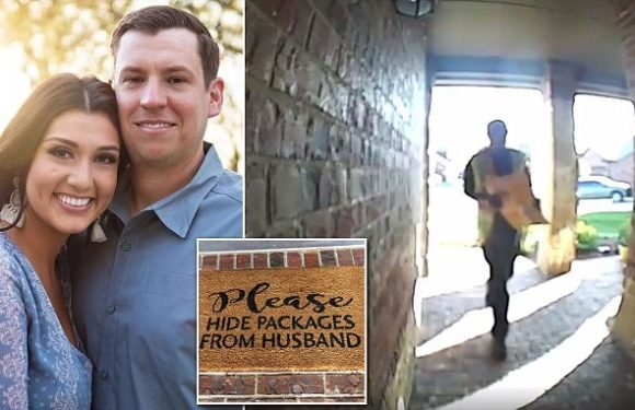 Deliveryman follows instruction  to hide package from husband