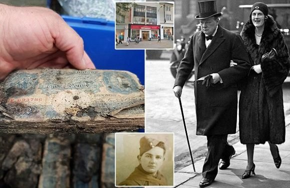 £1m in old notes found under the store used by Churchill's wife