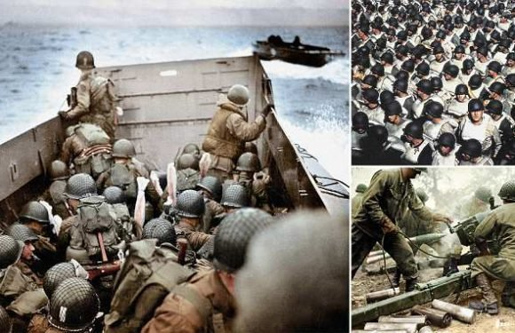Anticipation, horror, chaos of D-Day landing brought to life in colour