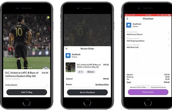 Snapchat now lets you buy tickets from inside the app