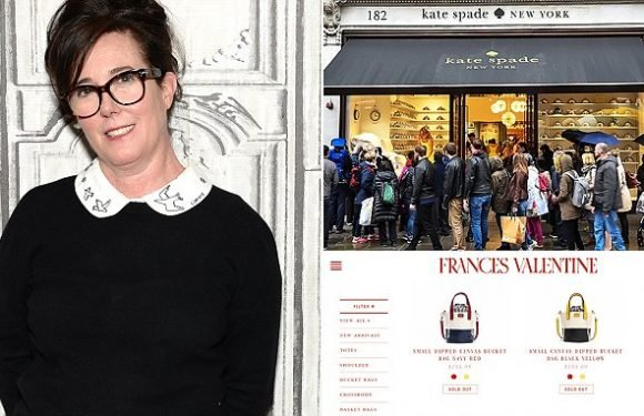 Kate Spade items fly off virtual shelves after designer's suicide