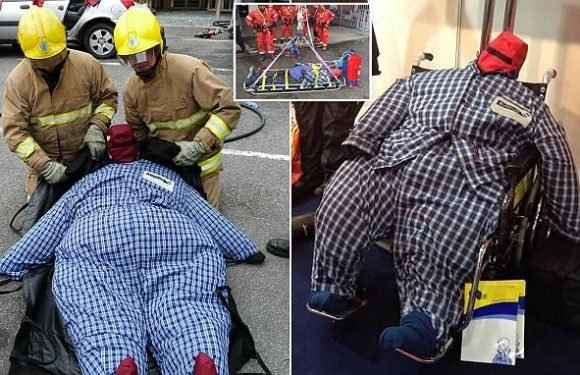 Obesity crisis forces 999 crews to practise on 40-STONE dummies