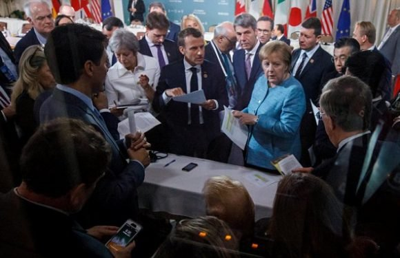 May faces grilling over G7 summit spat between Trump and the EU