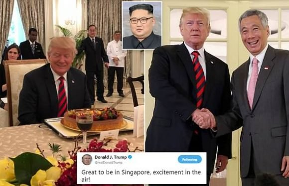 Trump begins Singapore trip with meeting at presidential palace