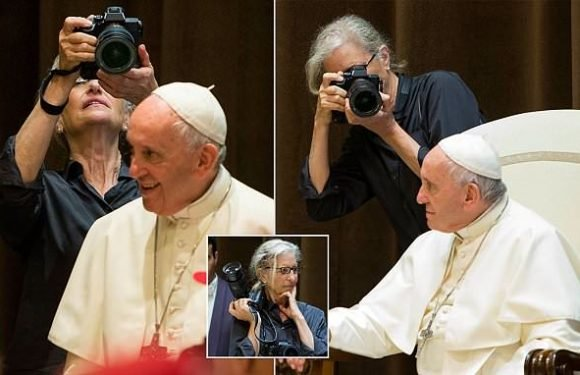 The Pope-arazzi! Annie Leibovitz snaps pontiff in Vatican photoshoot