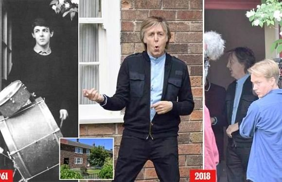 Paul McCartney returns to childhood home for first time in 54 YEARS