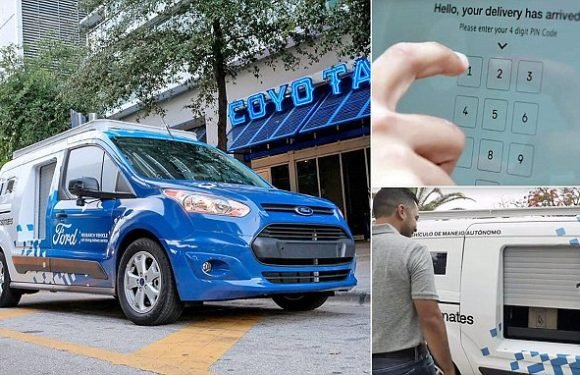 Takeaway meals to be delivered by self-driving vans by Ford in Miami