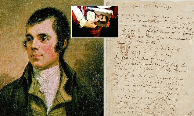 Letters suggest Robert Burns was bipolar, academics say