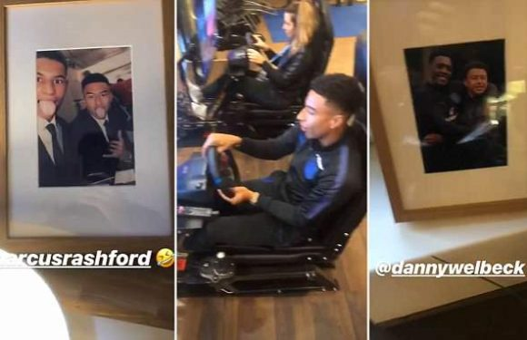 Jesse Lingard gives fans glimpse of England rooms at World Cup