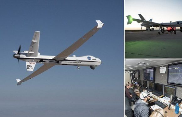 Unmanned Nasa plane flies solo through public airspace
