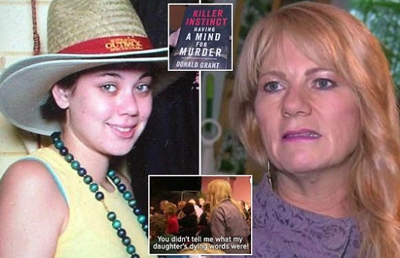 Powerful moment mother of murdered daughter interrupts book launch