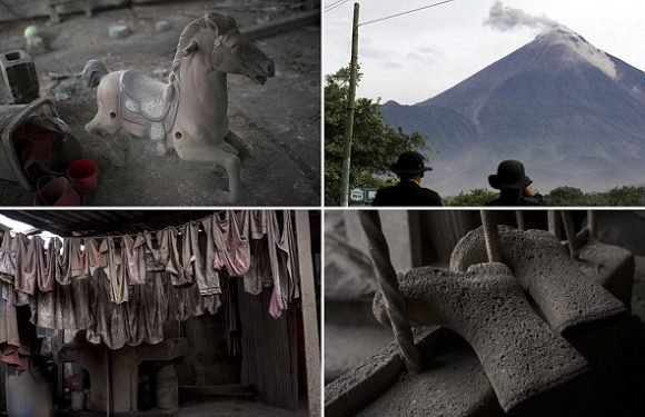 Stark images capture the ash-strewn aftermath of volcano eruption