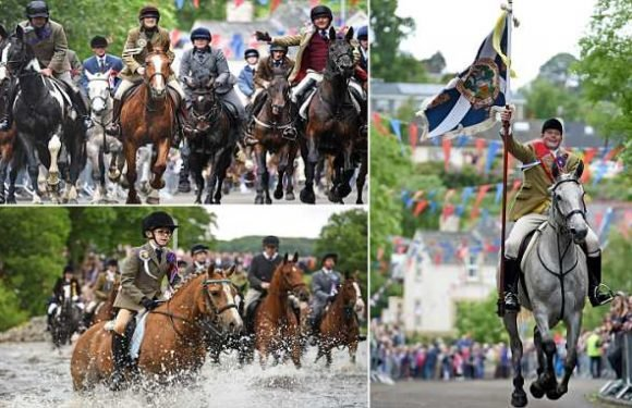 Riders charge through town to mark Battle of Flodden in 1513