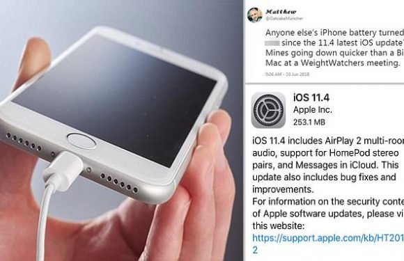 Apple users are complaining iOS 11.4 is killing their battery