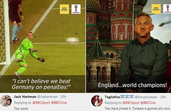 Fans cry foul at BBC video showing England winning the World Cup