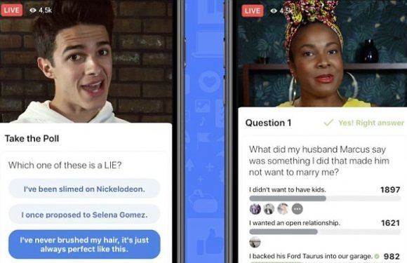 Facebook launches live video GAMESHOWS