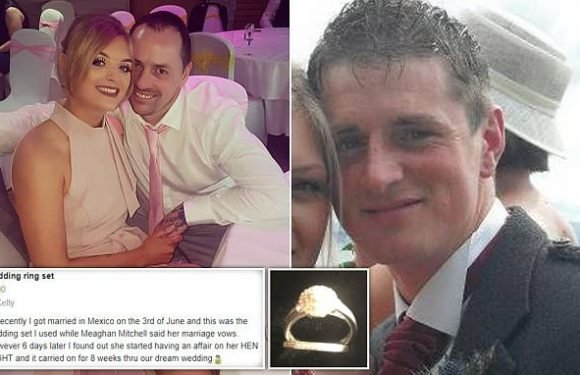 Pictured: Lover who newlywed left her husband for