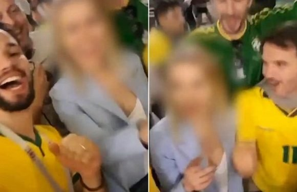 Brazil fans dupe woman into chanting VERY rude words at World Cup