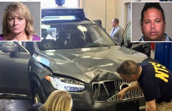Uber self-driving car driver watching The Voice on phone before crash