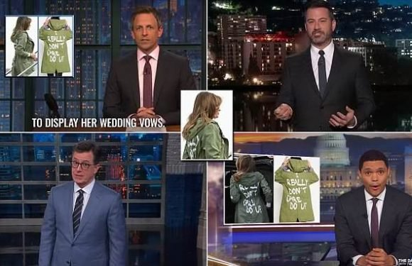 Late night show hosts eviscerate Melania for her tone deaf jacket
