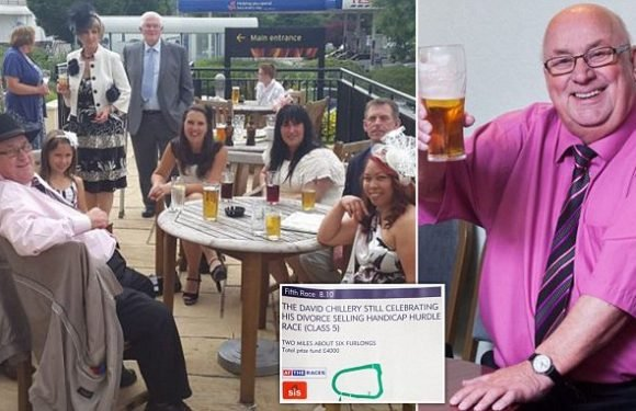 Coach driver, 73, toasts divorce from former wife by naming horse race