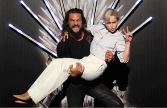"""Jason Momoa Reunites With """"Moon of His Life"""" Emilia Clarke and the Rest of His GOT Family"""