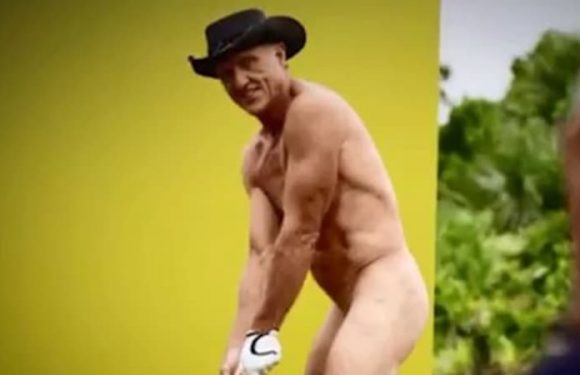 Greg Norman gets his golf club out for nude shoot with ESPN
