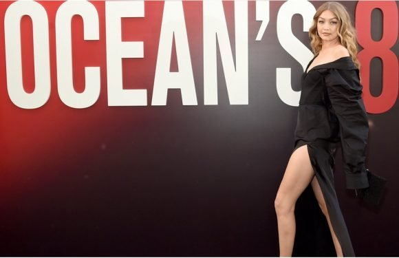Take 1 Glance at Gigi Hadid's Sexy, Thigh-High Slit and You'll Have Trouble Breathing