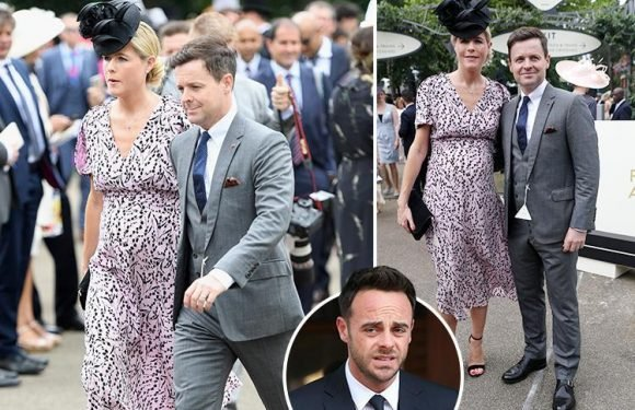 Declan Donnelly and pregnant wife Ali Astall look happy and relaxed at Ascot amid furore over Ant McPartlin's new girlfriend