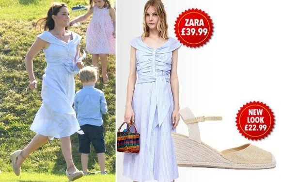 Here's how you can get Kate Middleton's sell-out £39.99 Zara dress and a copy of her shoes for just £22.99 at New Look